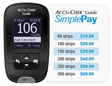 Accu-Chek Guide meter and SimplePay