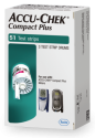 Fifty-one count box of Accu-Chek Compact Plus test strips