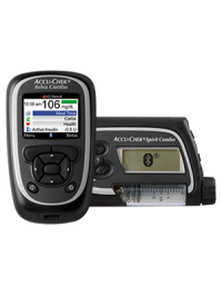 Accu-Chek Aviva Combo blood glucose meter and Accu-Chek Spirit Combo insulin pump