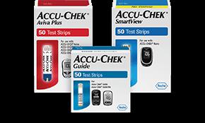 Accu-Chek blood glucose test strip boxes