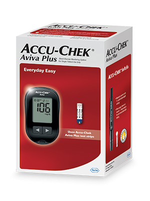 Accu-Chek Aviva blood glucose meter packaging