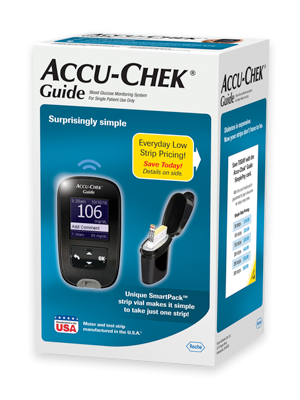 Accu-Chek Guide blood glucose meter packaging